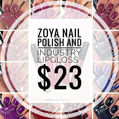 ZOYA NAIL POLISH AND INDUSTRY LIPGLOSS